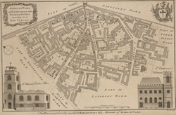 Aldgate ward with its divisions into precincts & parishes according to a new survey (1756)